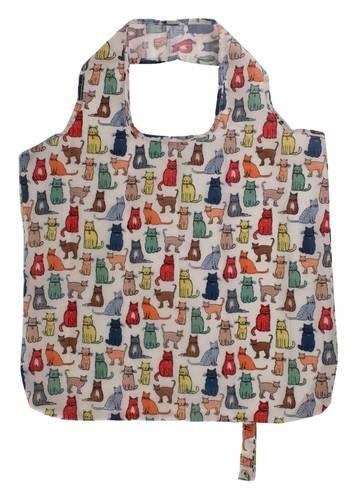 Shopping bag pieghevole Gatti in cammino