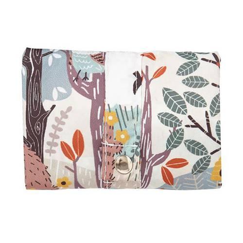 Shopping bag pieghevole foresta invernale cerbiatti