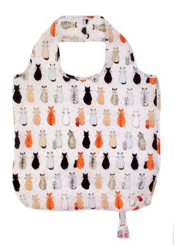 Shopping bag pieghevole gatti in attesa
