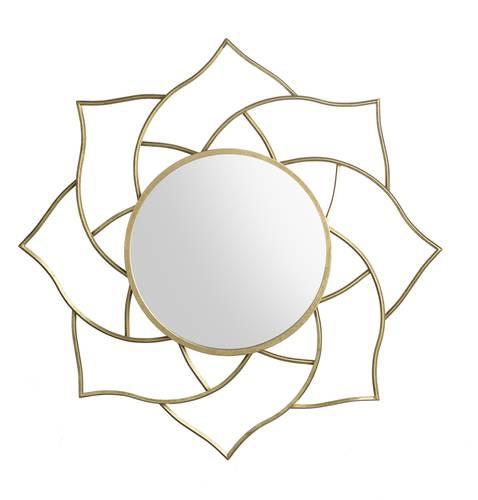 Specchio fiore di loto oro metallo cm90