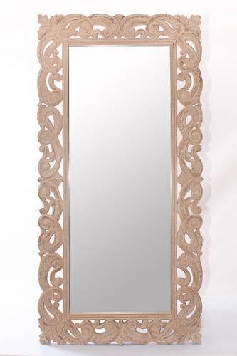 Specchio legno naturale intagliato 90x180
