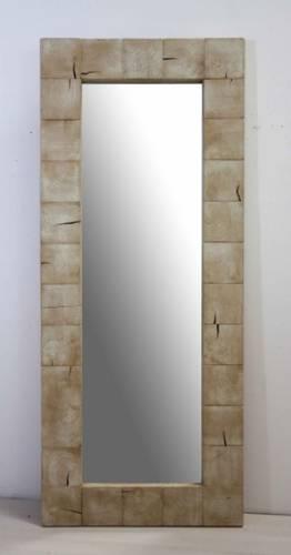 Specchio legno sezioni di tronco 80x190
