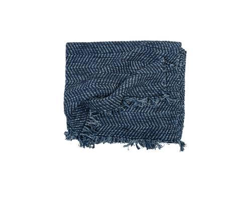 Tappeto blu melange cotone intrecciato 160x240