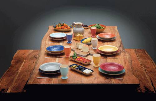 Bicchieri porcellana 6pz collezione mediterraneo