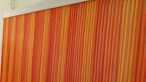 Tenda da porta corda sole arancio 125x240h