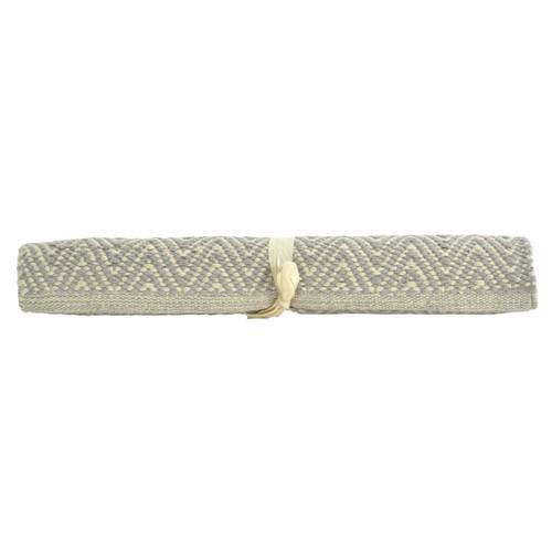 Tappeto cotone spigato grigio 50x90