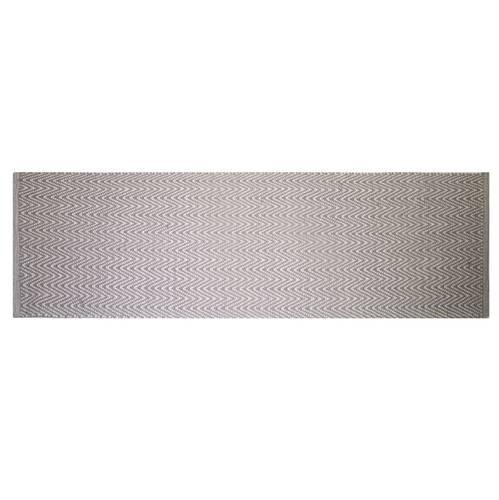 Tappeto cotone spigato rosa 50x150