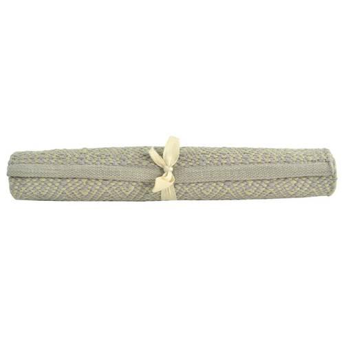 Tappeto cotone spigato verde 50x150