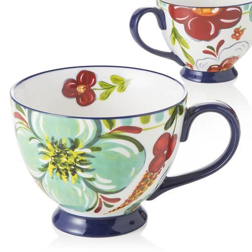 Tazza colazione frida ceramica decoro fiori