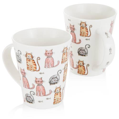 Tazza mug porcellana gatti colorati