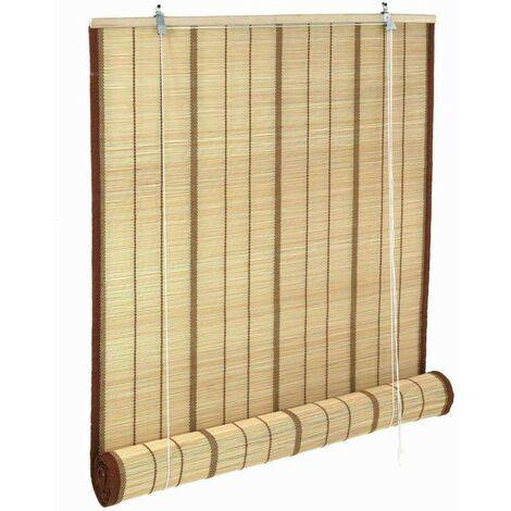 Tenda bambu naturale con bordatura lusso avvolgibile a rotolo 200x300