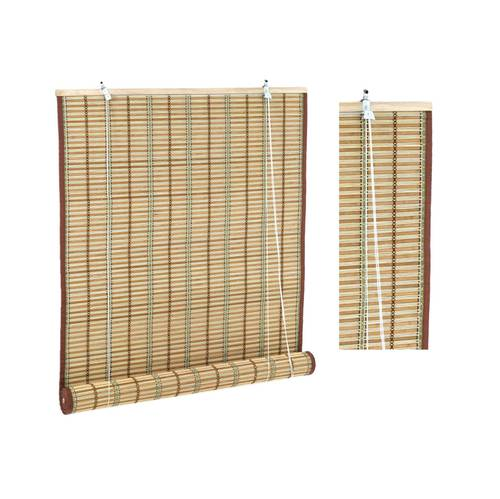 Tenda bambu naturale tessitura marrone e verde 120x300h