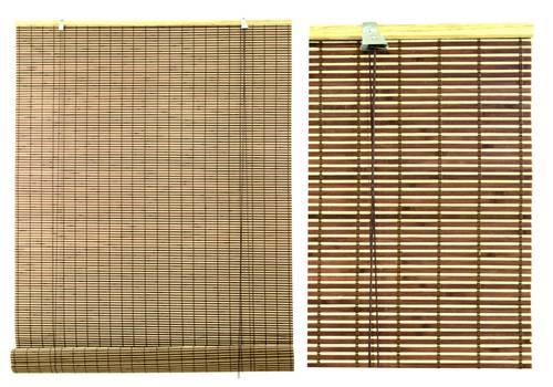 Tenda bambu' noce avvolgibile 180x300