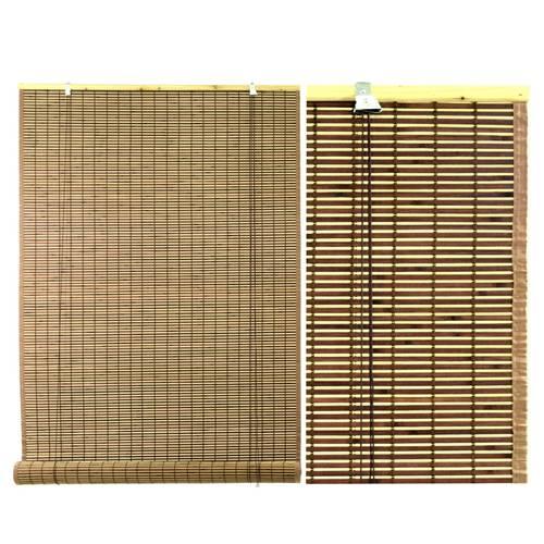 Tenda bambu' noce avvolgibile con bordatura laterale