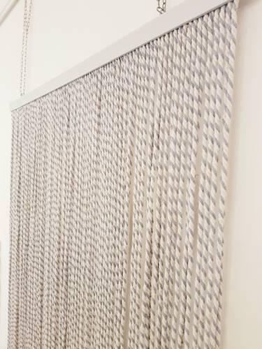 Tenda da porta corda cotone grigia bicolore 125x240h