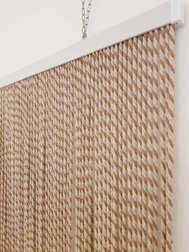 Tenda da porta corda cotone marrone bicolore 125x240