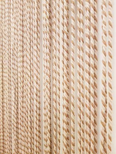 Tenda da porta corda cotone marrone bicolore 100x220