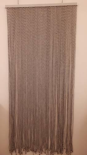 Tenda da porta cordoncino twist marrone 100x220