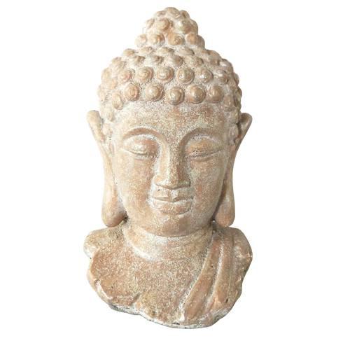 Testa di buddha terracotta beige