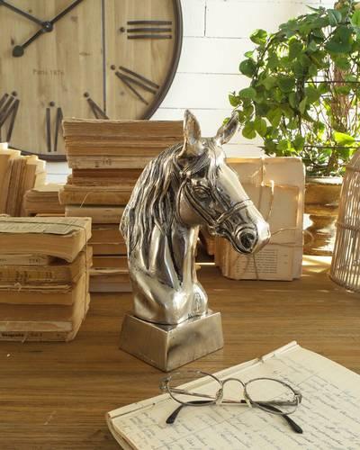 Testa di cavallo alluminio vintage