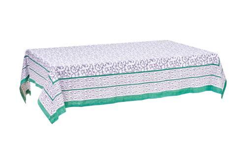 Tovaglia cotone sacher bordo verde 140x180