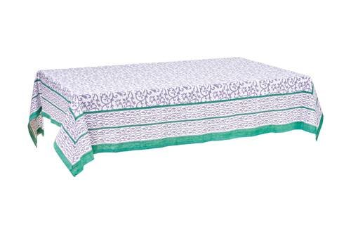 Tovaglia cotone sacher bordo verde 140x240