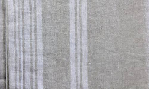 Tovaglia lino naturale riga bianca 170x170