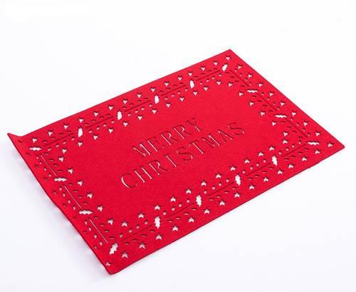 Tovaglietta panno rosso Merry Christmas