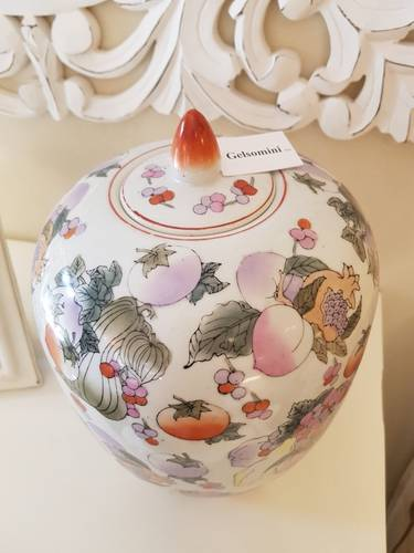 Vaso potige frutti porcellana cinese 35h