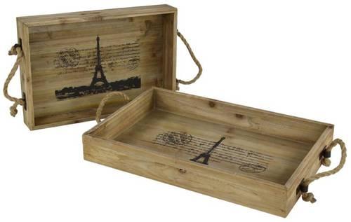 Vassoio legno Paris rettangolare piccolo