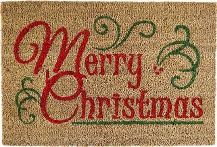 Zerbino cocco Merry Christmas 40x60