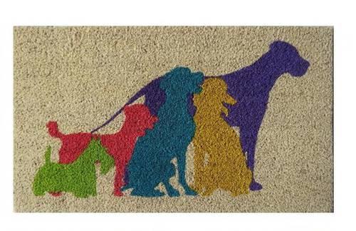 Zerbino cocco disegno cani colorati 40x70
