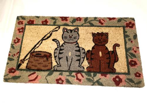 Zerbino cocco gatti in coppia 43x73