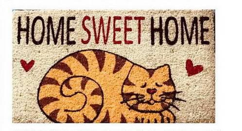 Zerbino cocco gatto home sweet home 43x73
