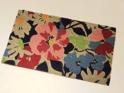 Zerbino cocco ingresso fiorelloni colorati 40x70