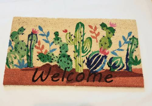 Zerbino ingresso cocco welcome cactus 40x70