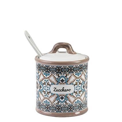 Zuccheriera Noto ceramica colorata azzurra