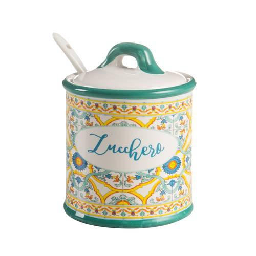Zuccheriera Ortigia ceramica colorata