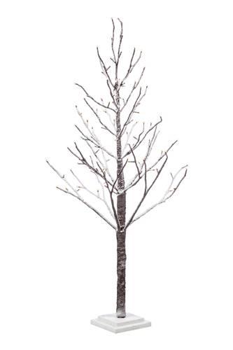 Albero natale rami glad innevato luci led 120h
