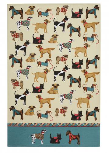 Asciugapiatti - tea towel cotone cani