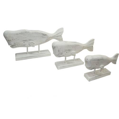 Balena bianca legno decoro marinaro