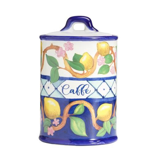 Barattolo Limoni caffè ceramica colorata