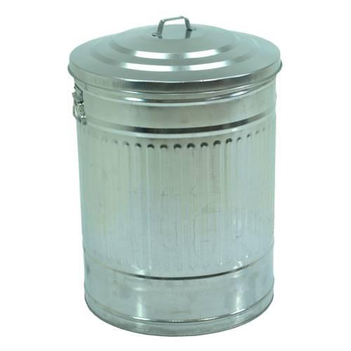 Bidone metallo zincato maxi 95L