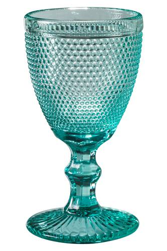 Bicchiere calice pallini blu tiffany 6pz