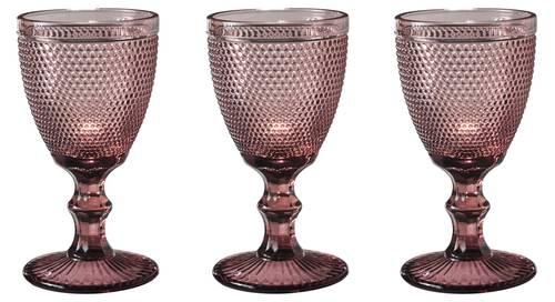 Bicchiere calice pallini rosa purple 6pz