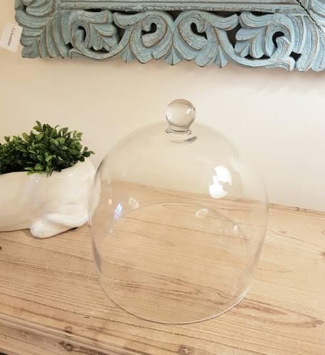 Campana vetro trasparente copritorte 28x30h