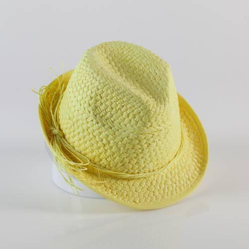 Cappello paglia giallo tipo alpino