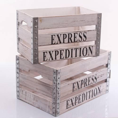 Cassetta alta express legno bianco