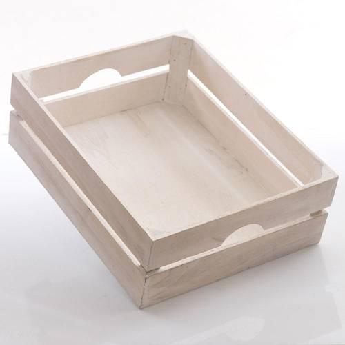 Cassetta legno abete bianco shabby 41x33