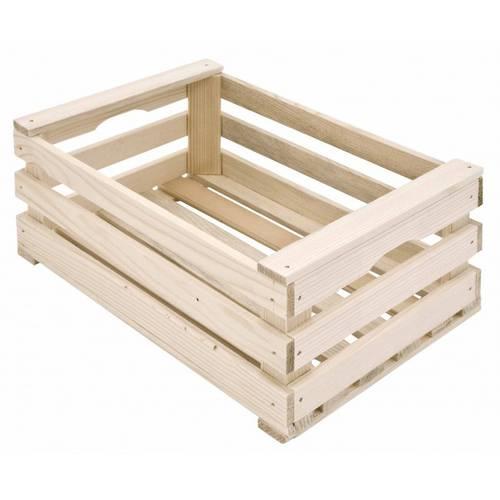 Cassettina legno grezzo tipo frutta 25x17